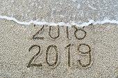 New Year's 2019 on Beach Sand