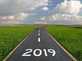 New year 2019 road start