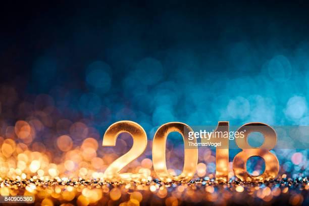 Neues Jahr Weihnachtsdekoration 2018 - Gold blau Party Feier