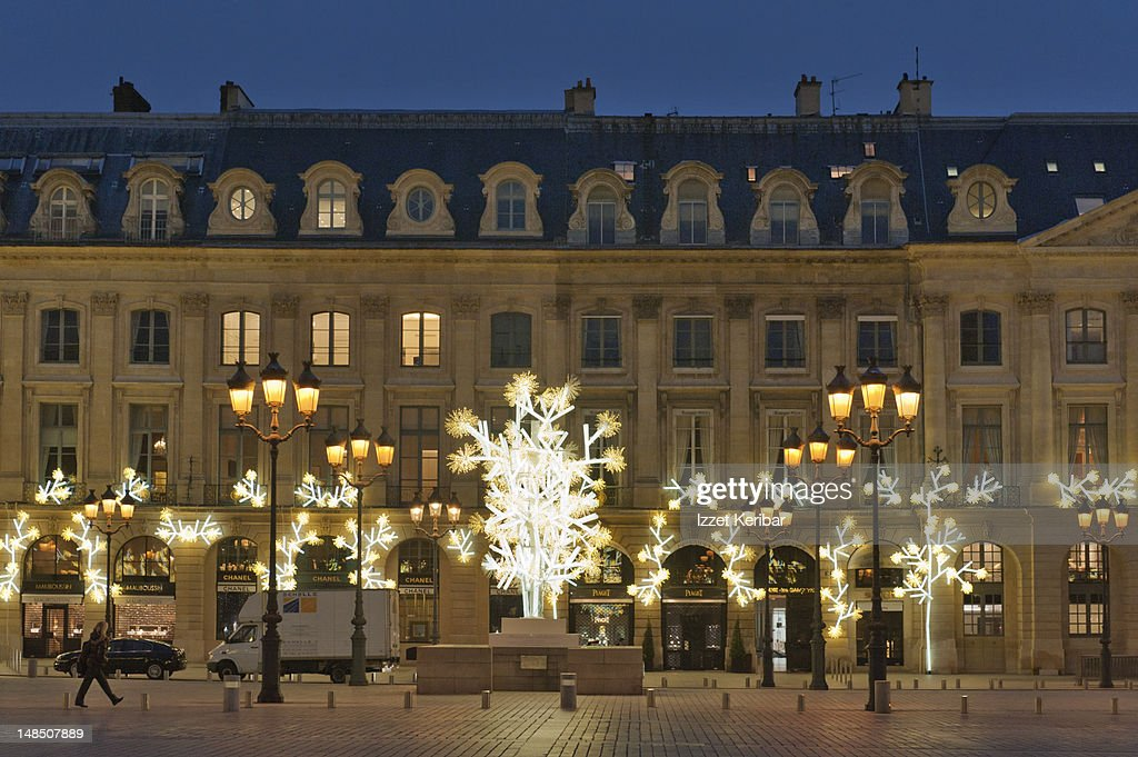 New Year decorations on Place Vendome.