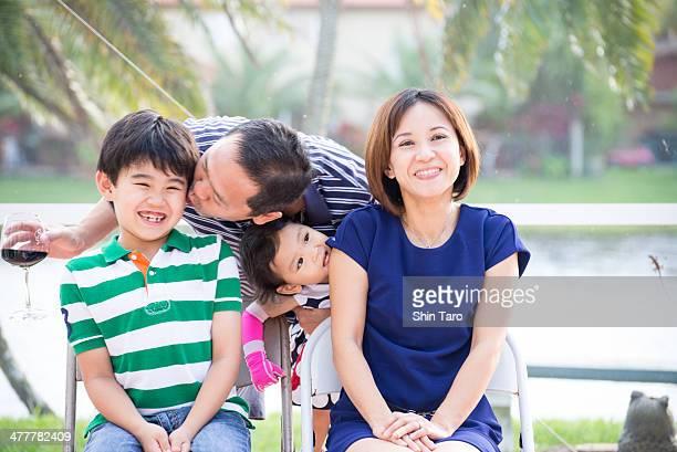 New year family photo