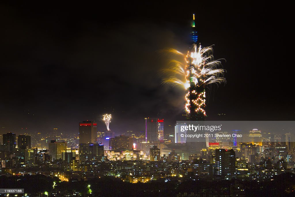 2011 New Year fireworks at Taipei 101
