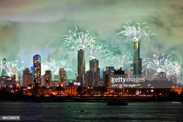 New Year Fireworks Melbourne Australia
