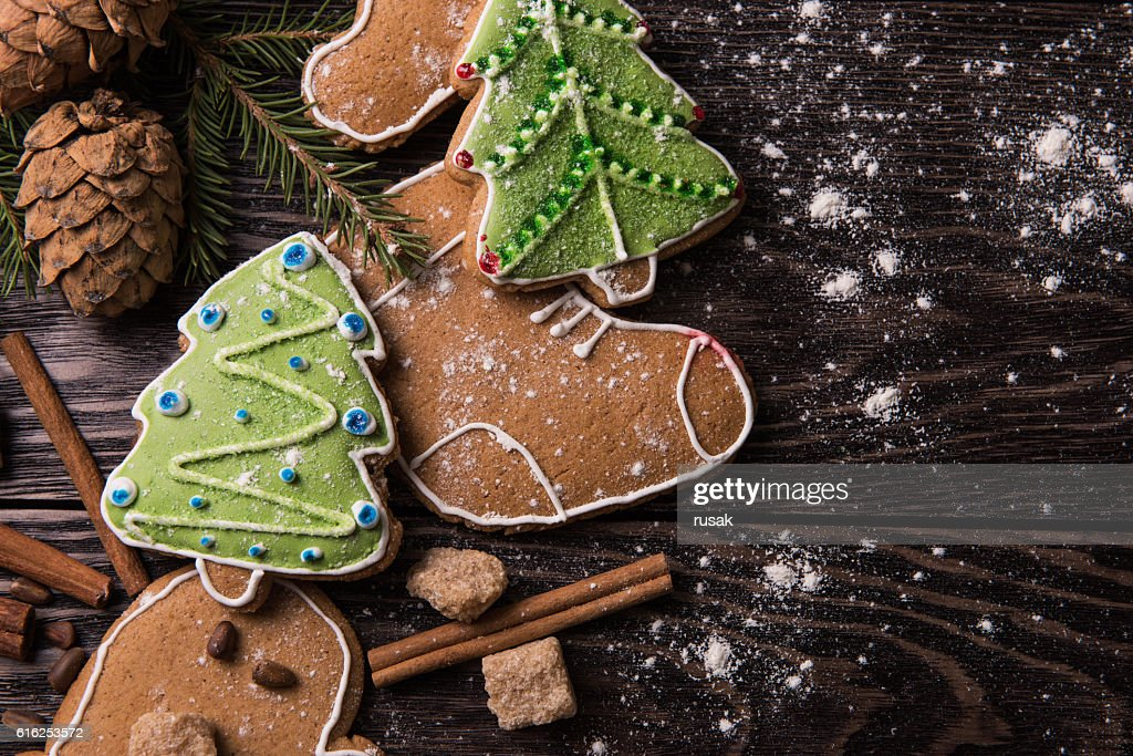 New year homemade gingerbread : Foto de stock