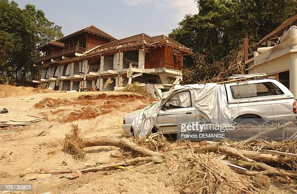 New Year In Khao Lak 7 Days After The Tsunami Disaster On January 1 2004 In Khao Lak Thailand A Vision Of Desolation And End Of The World On The...