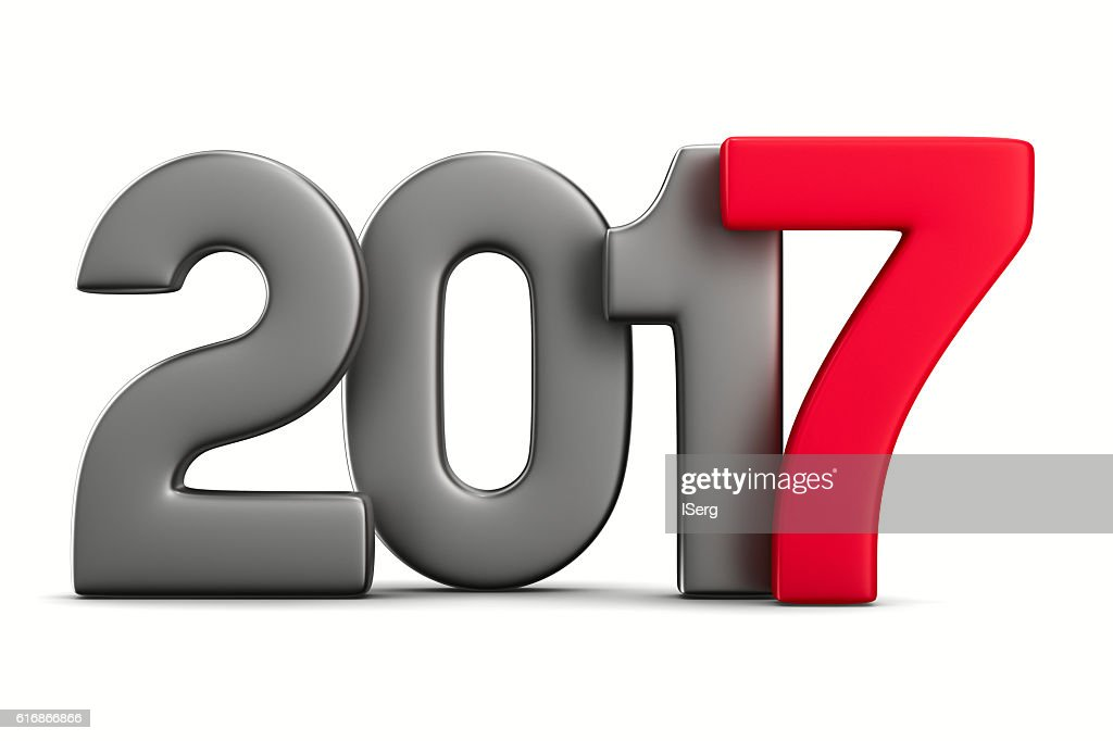 2017 new year. Isolated 3D image : Stock Photo