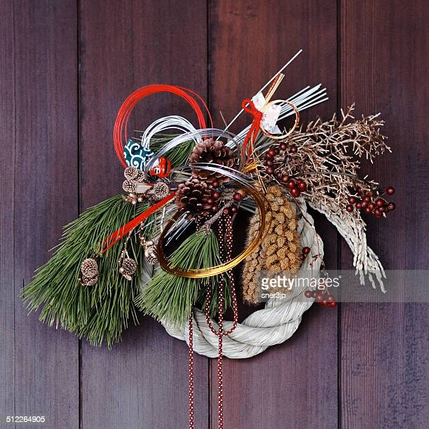New Year pine decorations