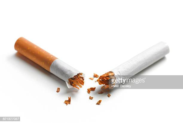 New year resolution broken cigarette