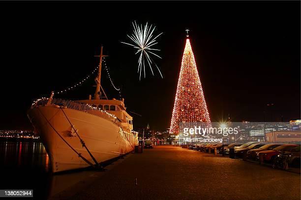 New Years celebration at sea
