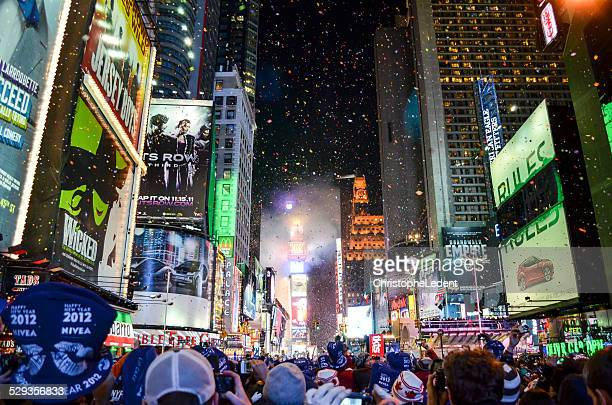 Silvester Ball Drop in Times Square
