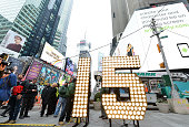 New Year's Eve numerals arrive in Times Square prior to installation atop One Times Square at Times Square on December 16 2014 in New York City