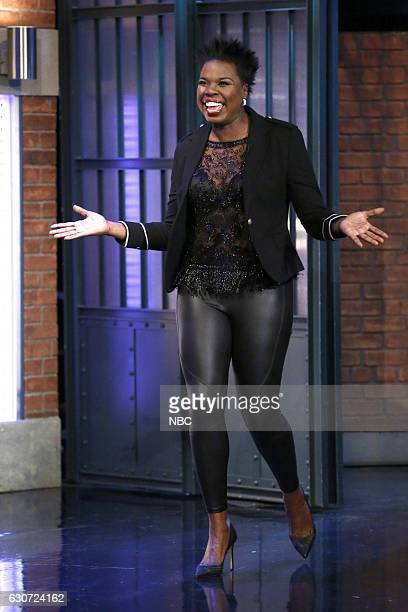 MEYERS 'New Year's Eve Special' Pictured Actress Leslie Jones arrives for the 'Late Night with Seth Meyers New Year's Eve Special' airing on December...