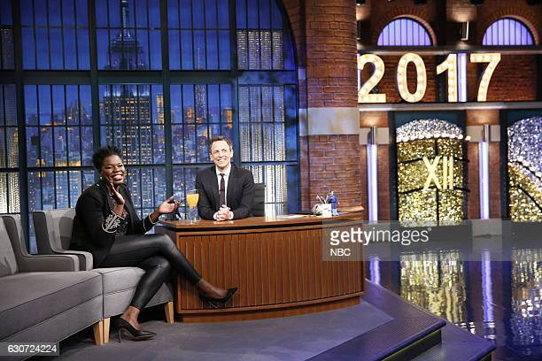 MEYERS 'New Year's Eve Special' Pictured Actress Leslie Jones is interviewed by host Seth Meyers during the 'Late Night with Seth Meyers New Year's...