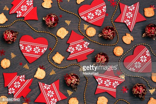 New Year's or Christmas background. : Stock Photo