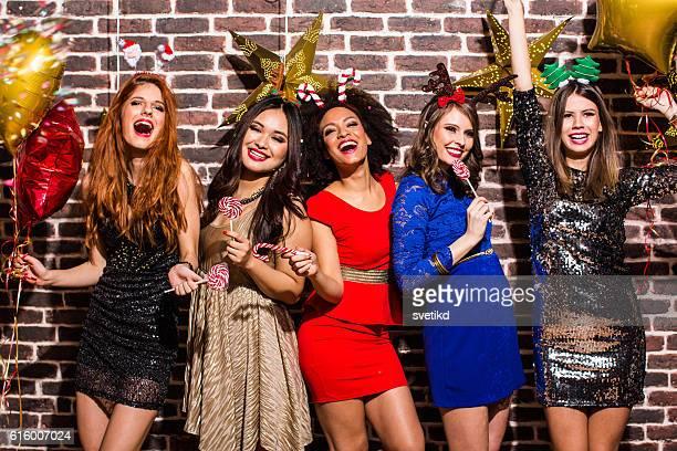 Fête du Nouvel An avec les filles.