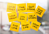 new years resolution, new year, aspirations, adhesive note, planning, change