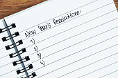 New Year's Resolutions in notepad