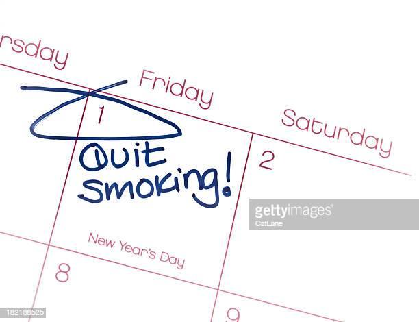 Neues jahr, gute Vorsätze für das Rauchen