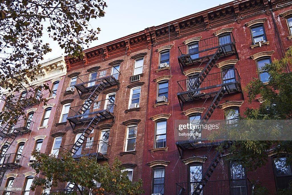 New York Apartment Buildings : Stock Photo