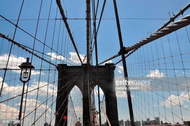 USA, New York, arcade of Brooklyn bridge