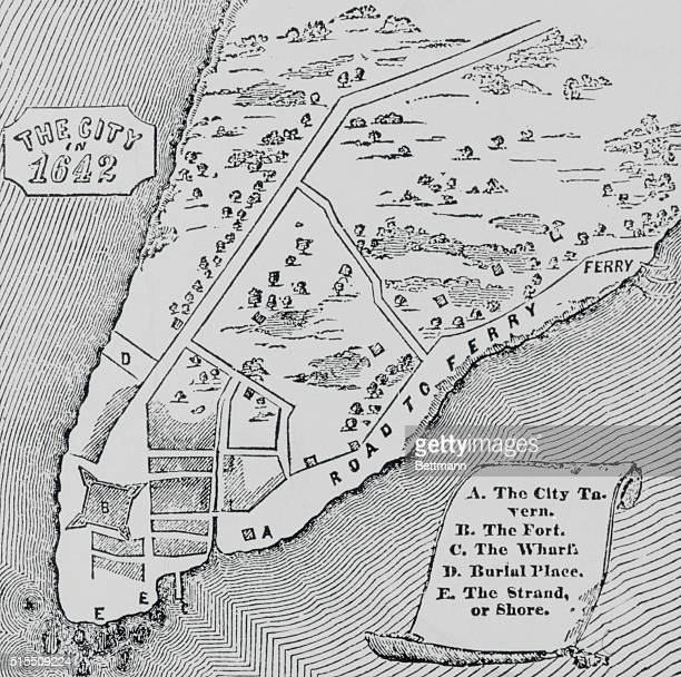 New York as New Amsterdam The City in 1642