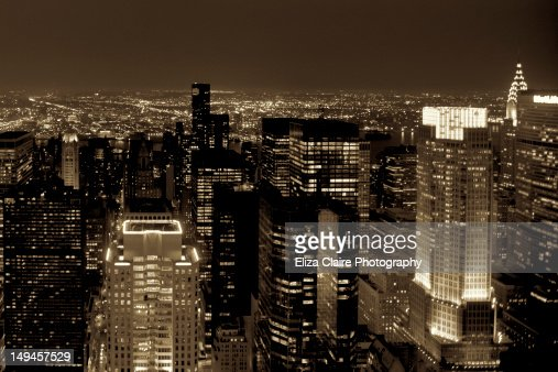 New York at night : Stock Photo