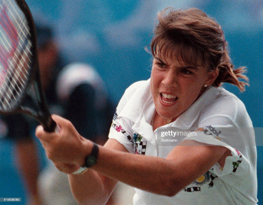 Youthful Jennifer Capriati in Tennis Action