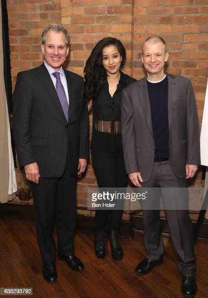 New York Attorney General Eric Schneiderman and Actor Jim Norton and guest attend the Special Screening Of FilmRise's 'From Nowhere' at Tribeca...