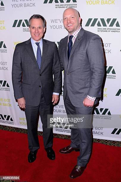 New York Attorney General Eric Schneiderman and Founder Executive Director of IAVA Paul Rieckhoff attend Iraq and Afghanistan Veterans of America...