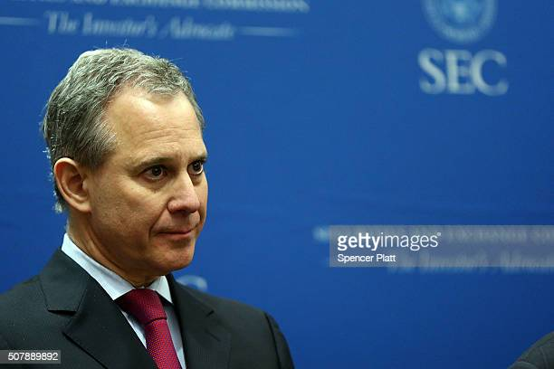 New York Attorney General Eric Schneiderman is joined by SEC Enforcement Director Andrew Ceresney where they announced a settlement with Barclays and...