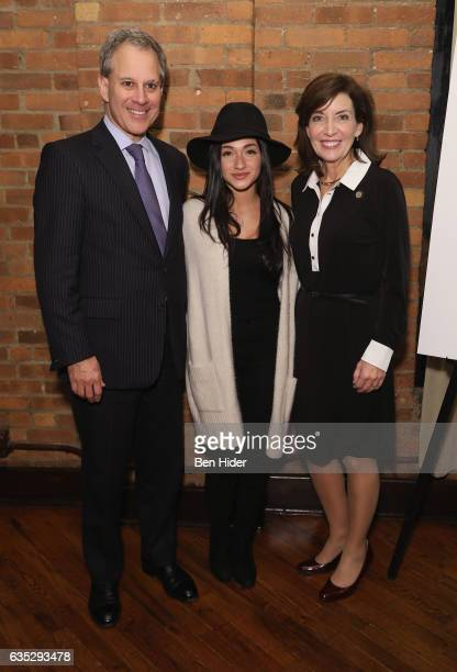 New York Attorney General Eric Schneiderman Raquel Castro and Lieutenant Governor of New York Kathy Hochul attend the Special Screening Of FilmRise's...