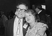 Authors Isaac Asimov and Betty Friedan get together 5/18 during 30th anniversary celebration of the American Society of Journalists and Authors at...