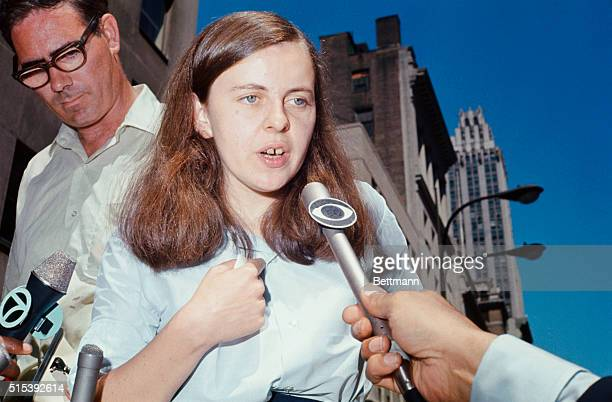 Bernadette Devlin the fiery 22yearold Member of Parliament from MidUlster Northern Ireland speaks to a crowd demonstrating in front of the British...