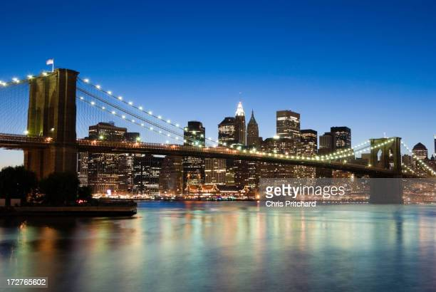 New York - Brooklyn Bridge and Lower Manhattan