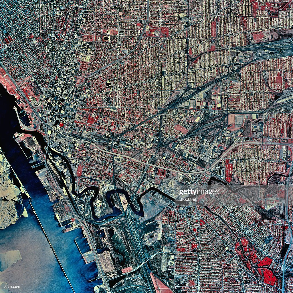 USA, New York, Buffalo, satellite image : Stock Photo