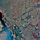 USA, New York, Buffalo, satellite image