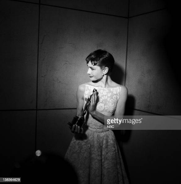 AWARDS New York Ceremony Air Date Pictured Best Actress winner Audrey Hepburn for 'Roman Holiday' during the 26th Annual Academy Awards on March 25...