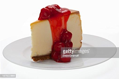 New York Cheesecake With Cherries