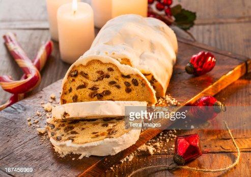 USA, New York, Christmas fruit cake