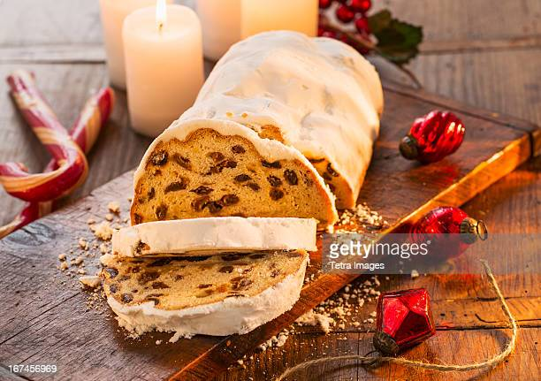 USA, New York, Christmas fruit cake