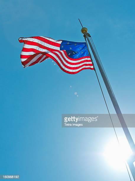USA, New York City, 15 star US flag