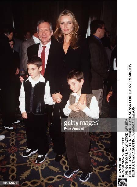 New York City 1998 National Magazine Awards Hugh Hefner Wife Kimberly And Sonns Cooper And Marston