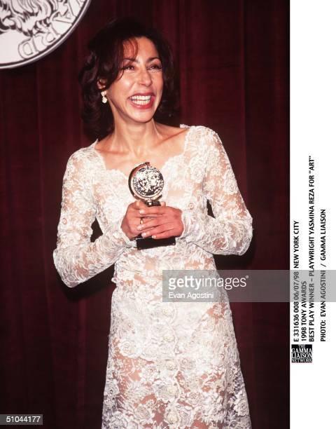 New York City 1998 Tony Awards Best Play Winner Playwright Yasmina Reza For 'Art'