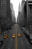 New York City - 42nd Street [B&W and yellow]