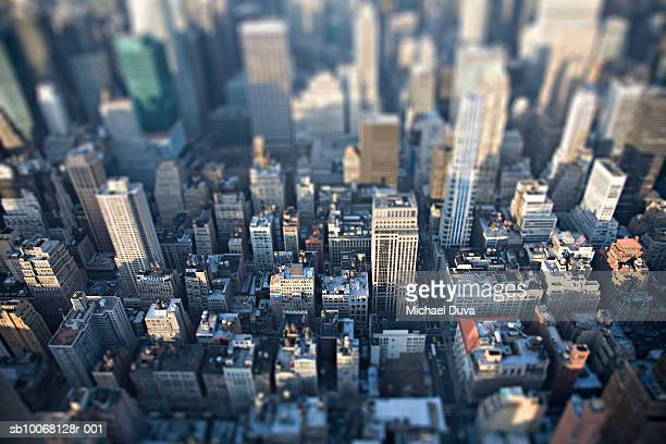 USA, New York City, aerial view of 34th street
