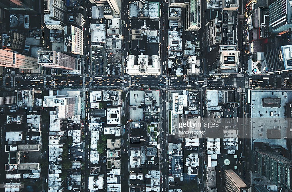 new york city aerial view of the downtown : Photo