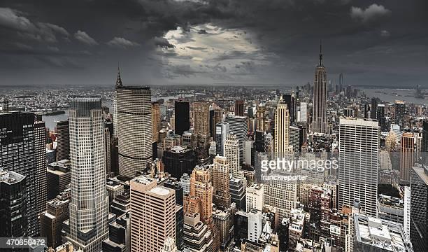 New York City aerial view skyline