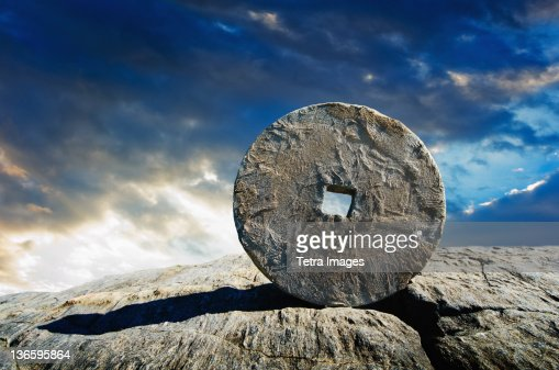 USA, New York City, Ancient stone circle