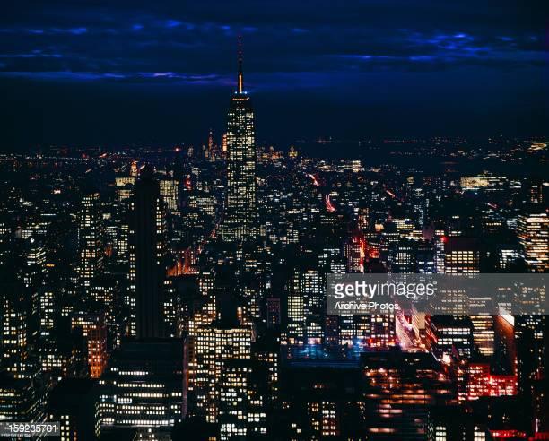 New York City at night circa 1960