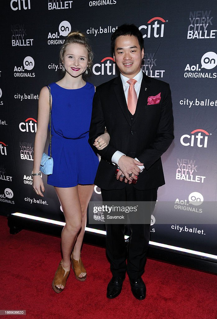 New York City Ballet dancer Claire von Enck (L) attends the New York series premiere of 'city.ballet.' at Tribeca Cinemas on November 4, 2013 in New York City.